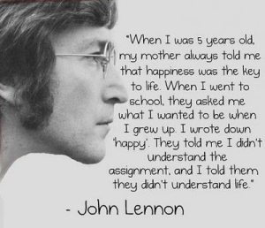 John Lennon Happy