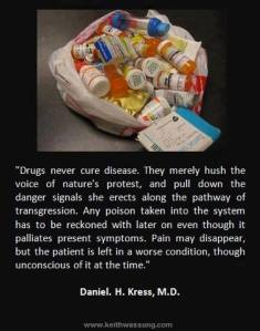 drugs never cures disease
