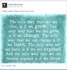 Bu Santi Quote Fb 28 Nov 2013