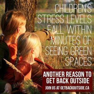 Children's stress levels fall within minutes of seeing green spaces