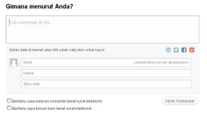 Kotak Komentar WordPress PHW
