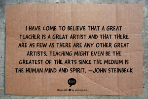 great teacher - great artist