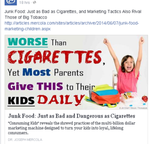 Junk Food worse than cigarettes