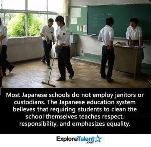 Sekolah Jepang tidak membayar pembersih kelas - janitor